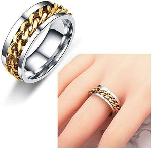 Titanium Steel Rotatable Chain Ring (Buy one get one free)