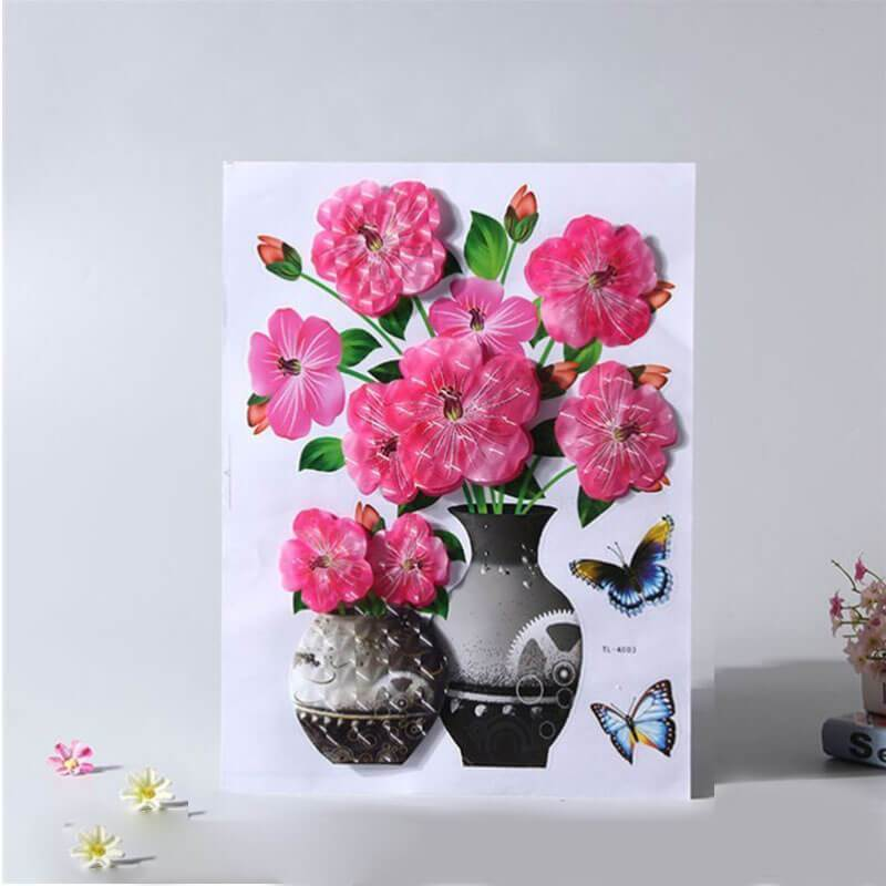 3D Stereo Flower Wall Sticker