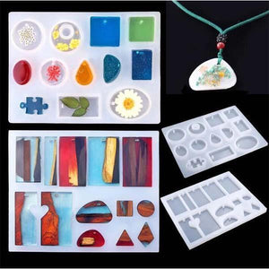 DIY Jewelry Crystal Glue Drop Silicone Mold(83pcs)