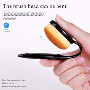 Black Toothbrush Type Makeup Brush