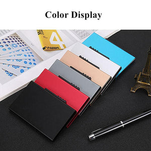 Anti-theft brush metal card box