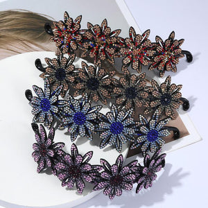 Rhinestone Hair Bun Claws Holders(2PCS)
