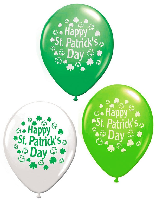 St Patrick's Day Latex Balloons