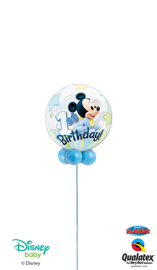 1st Birthday Mickey / Minnie Bubble - Choose Options