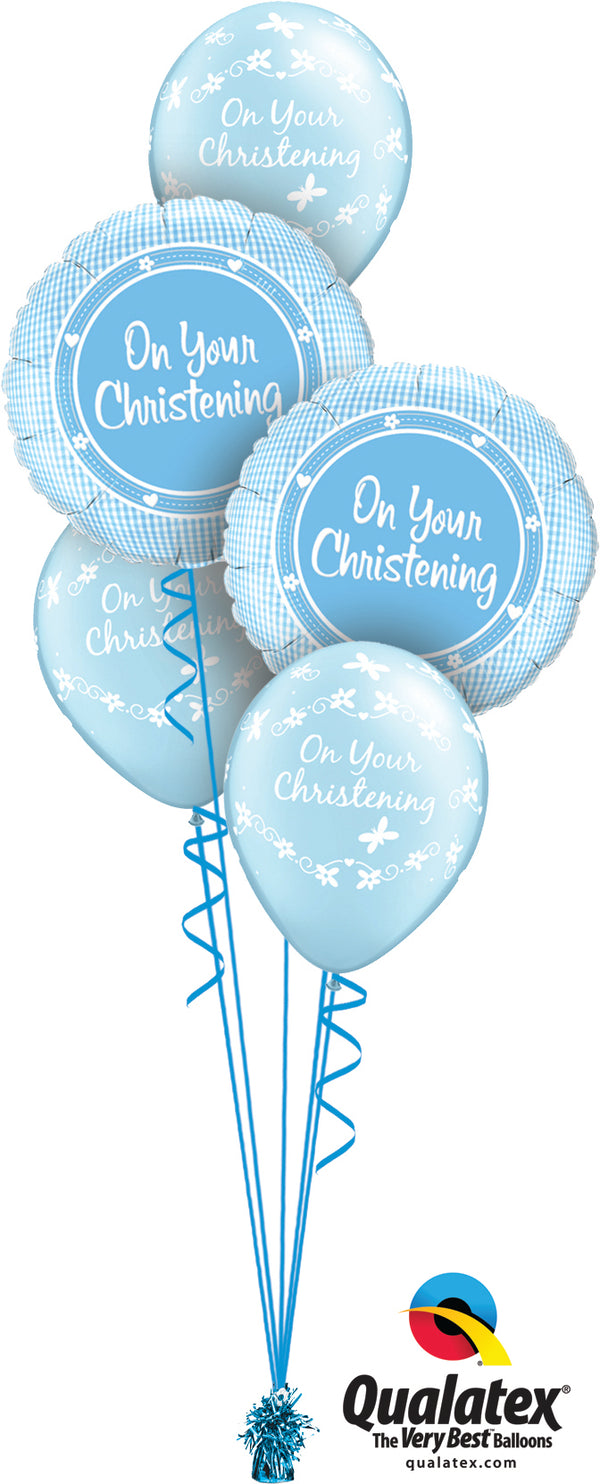 Baby Boy Christening Blue