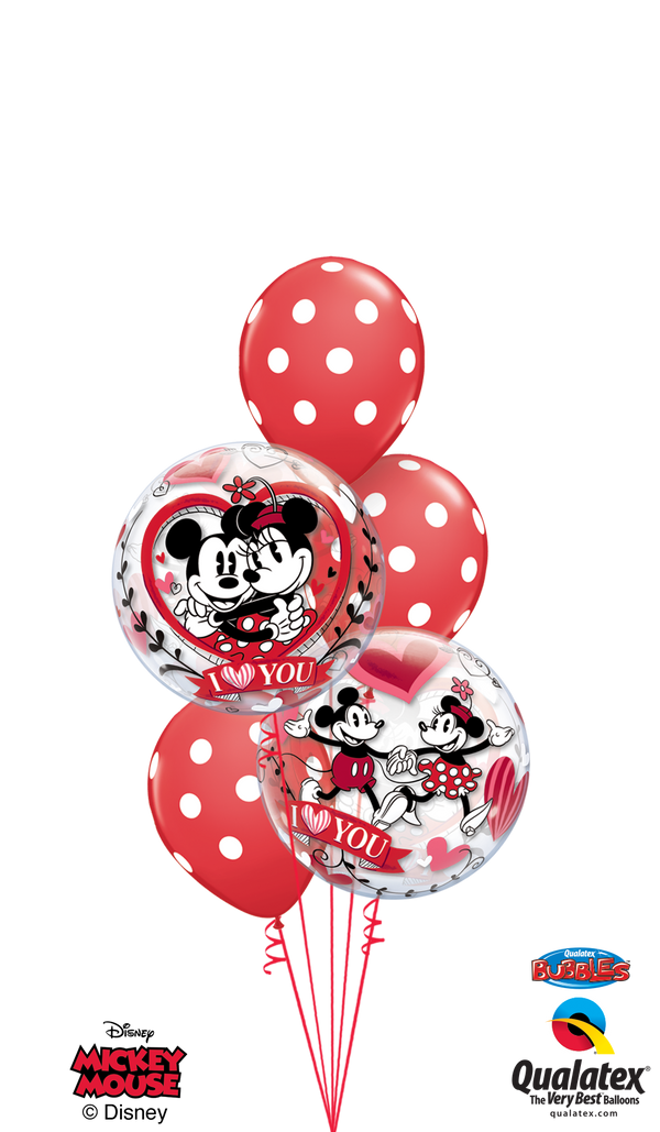 Mickey & Minnie Polka Dots Bubble Bouquet