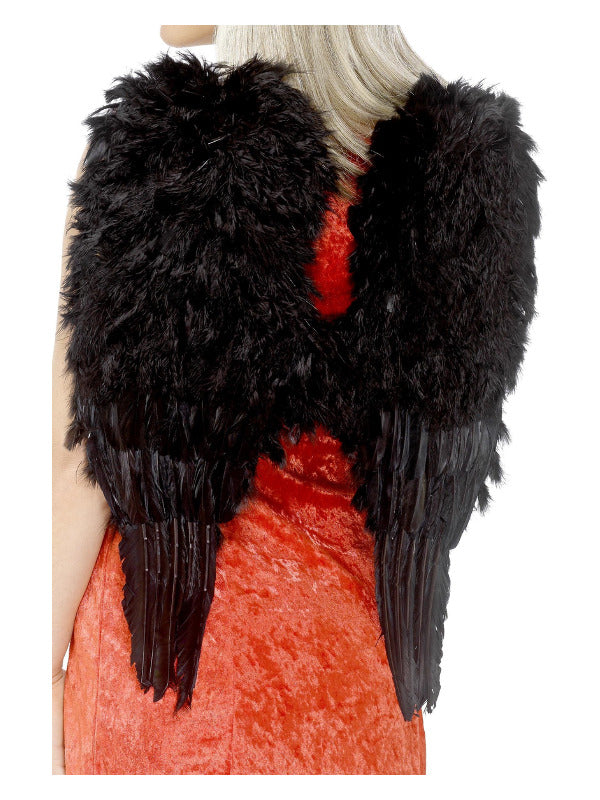 Feather Angel Wings Black - Large