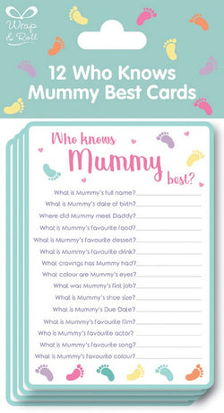 Baby Shower Who Knows Mummy Best Game