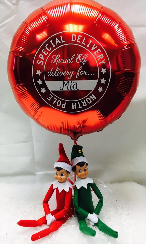 Christmas Elf Arrival Balloon