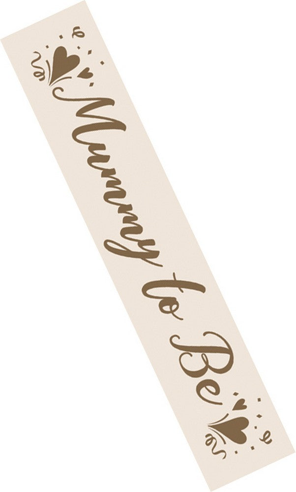 Baby Shower Mum To Be Sash - Gold