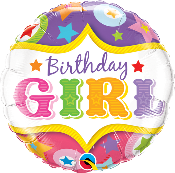 Birthday Girl Circus Foil Balloon