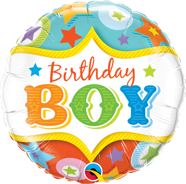 Birthday Boy Circus Foil Balloon