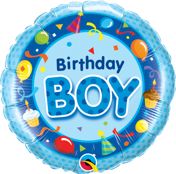 Birthday Boy Blue Foil Balloon