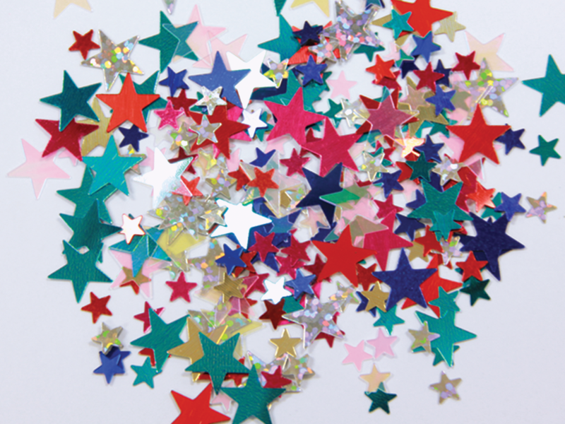 Multi Colour Star Confetti