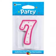 7 Number Shape Candle - Pink