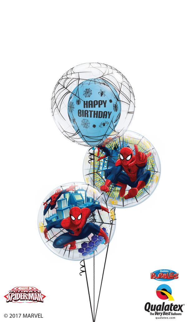 Spiderman Birthday Bubble Bouquet