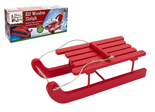 Elves Behavin' Badly - Wooden Sleigh
