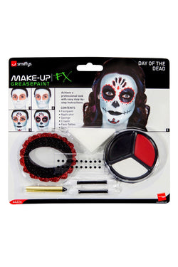 Day of the Dead Make-Up Kit, with Face Paints