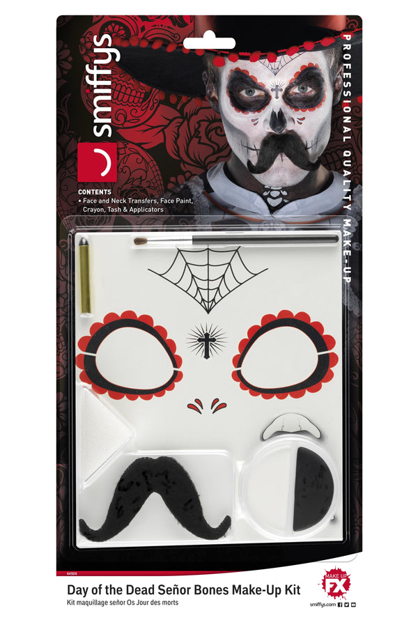 Day of the Dead Se±or Bones Make-Up Kit, Aqua