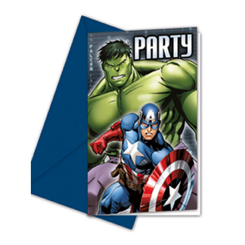 Avengers Party Invites
