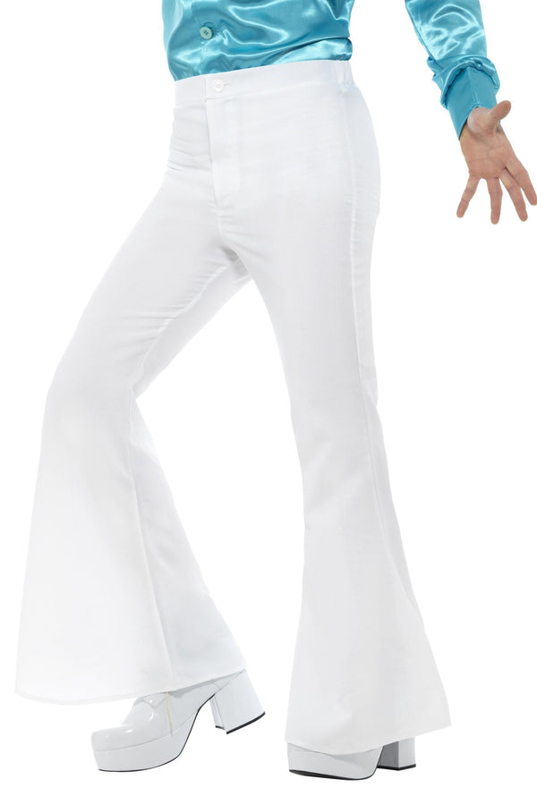 Flared Trousers White