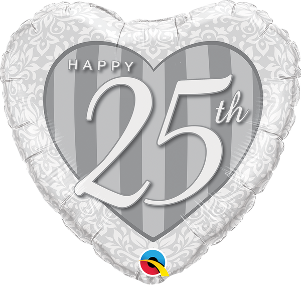 25th Anniversary Damask Foil Balloon