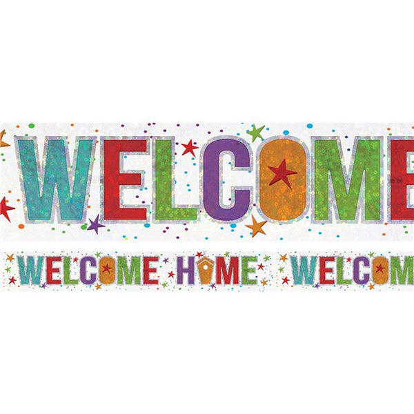 Holographic Foil Banner - Welcome Home