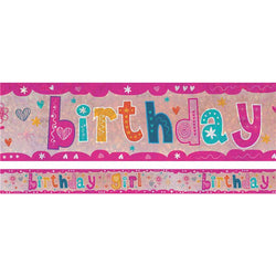 Holographic Foil Banner -  Birthday Girl