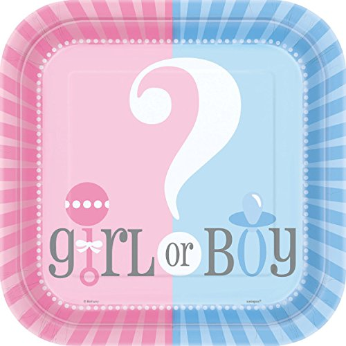 Square Gender Reveal Baby