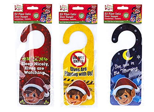 Elves Behavin' Badly - Light Up Door Hanger