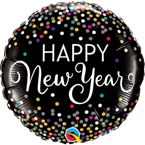 New Year Colourful Confetti Balloon