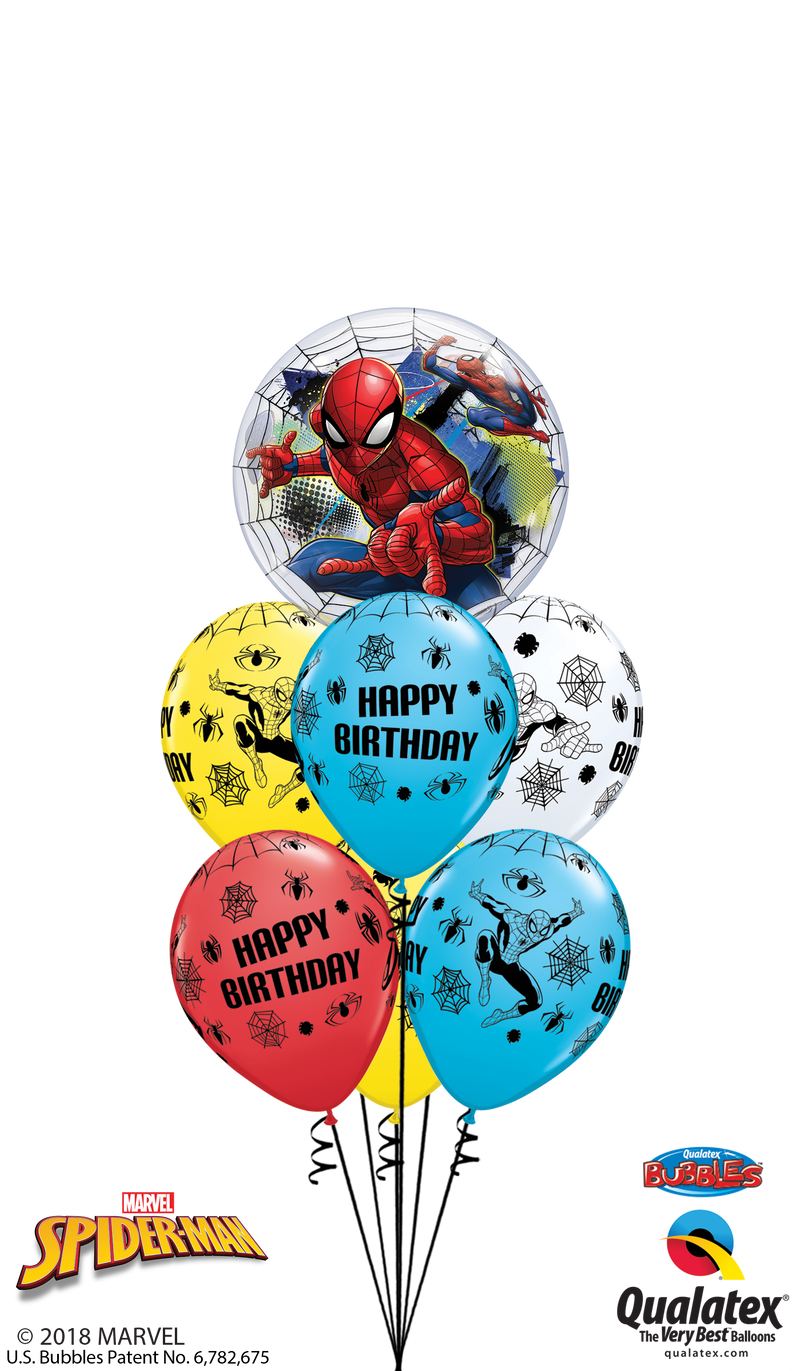 Spiderman Birthday Bubble