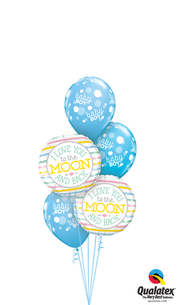 Baby Boy Blue Moon Bouquet
