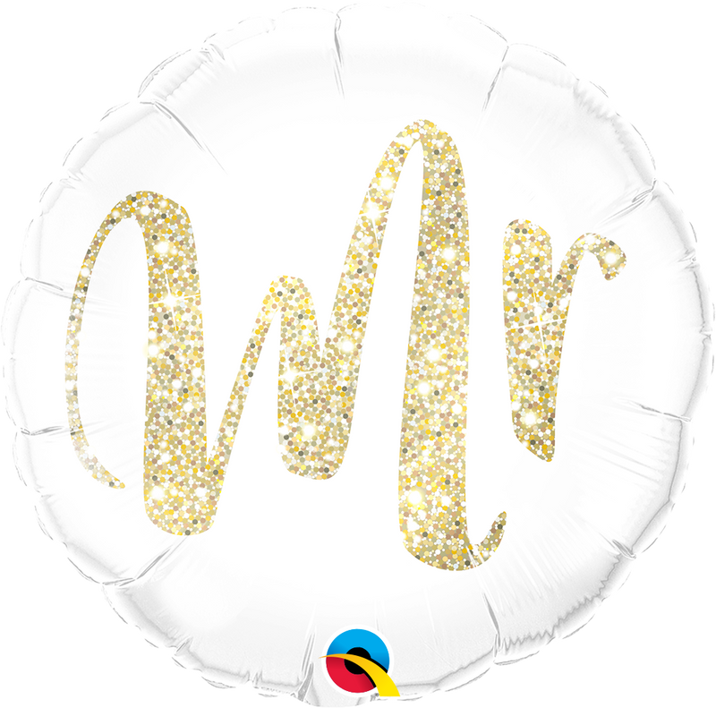 Mr Glitter Gold Foil Balloon
