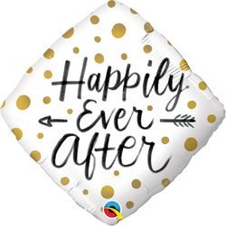 Happily Ever After Gold Dots Foil Balloon