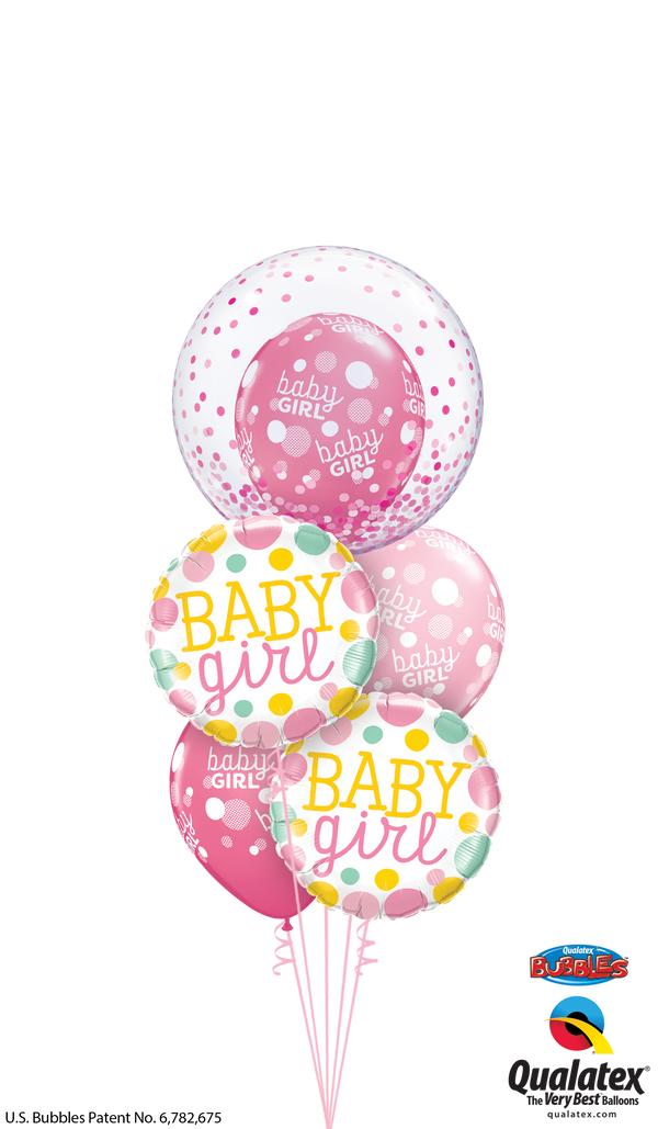 Baby Girl Polka Dots and Confetti