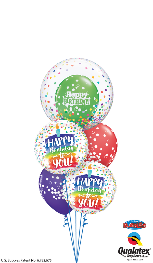 Colorful Birthday Candle & Confetti