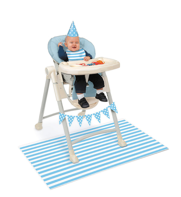 Baby High Chair Decorating Kit Blue