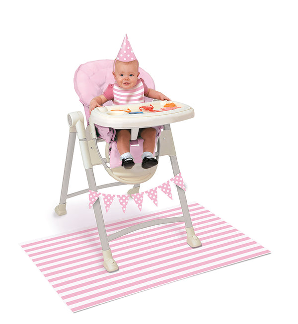 Baby High Chair Decorating Kit Pink