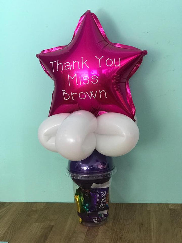Teachers Thank You Personalised Candy Cup