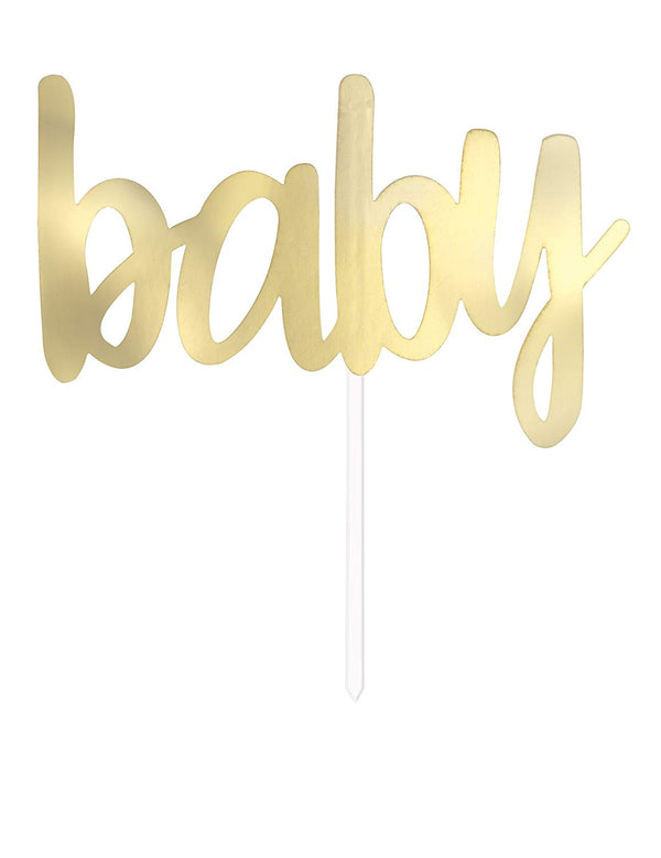 Gold Baby Cake Topper