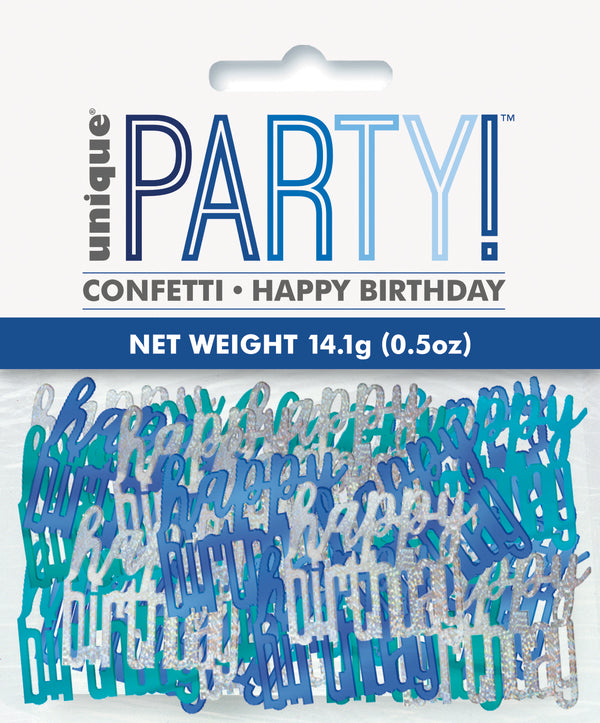 Blue Glitz Happy Birthday Foil Confetti