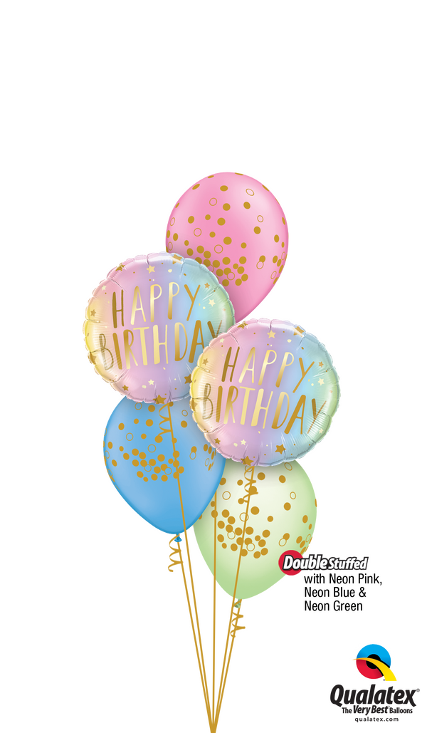 Swirly Whirly Birthday Colors & Dots