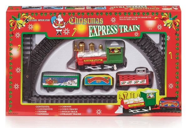 Christmas Express Train Set With 2 Tracks