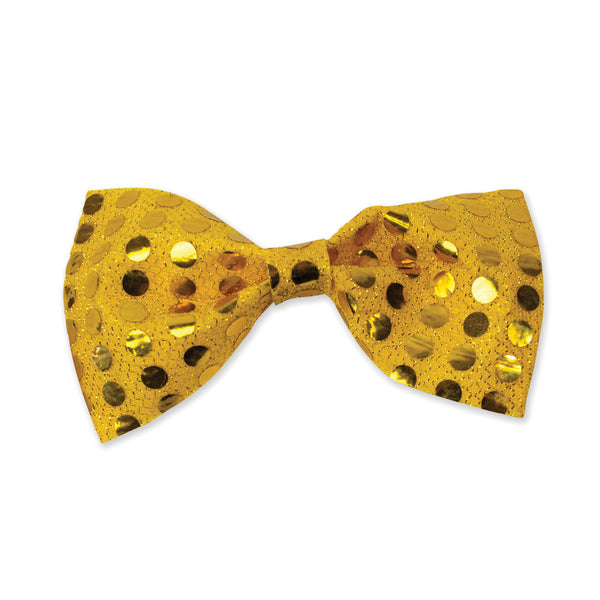Yellow Sequin Bow Tie