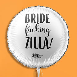 "18"" Rude Balloon Bride F#####g Zilla! - White"