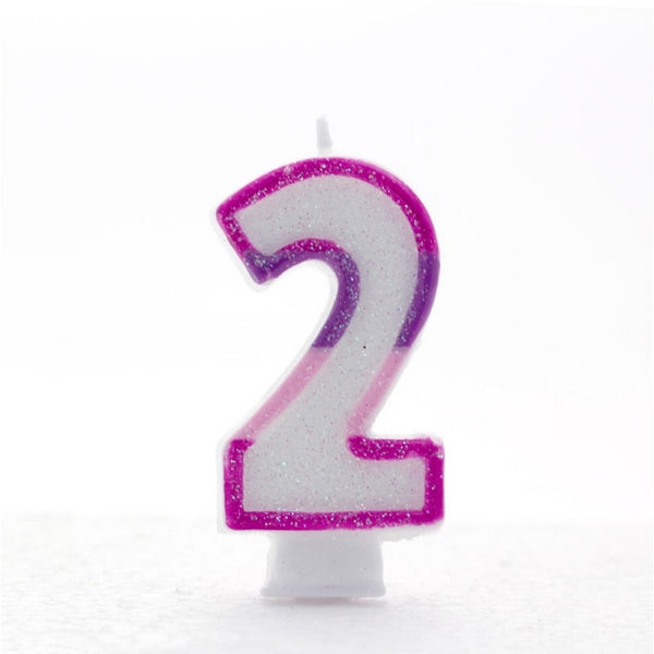 Copy of 2 Number Shape Candle - Pink
