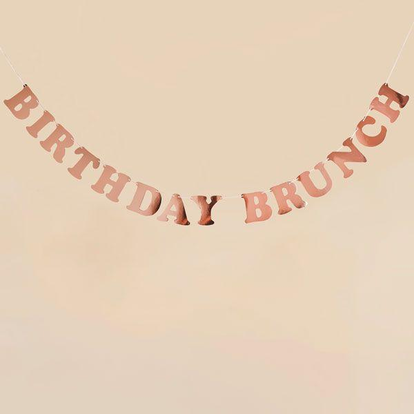 Birthday Brunch Banner