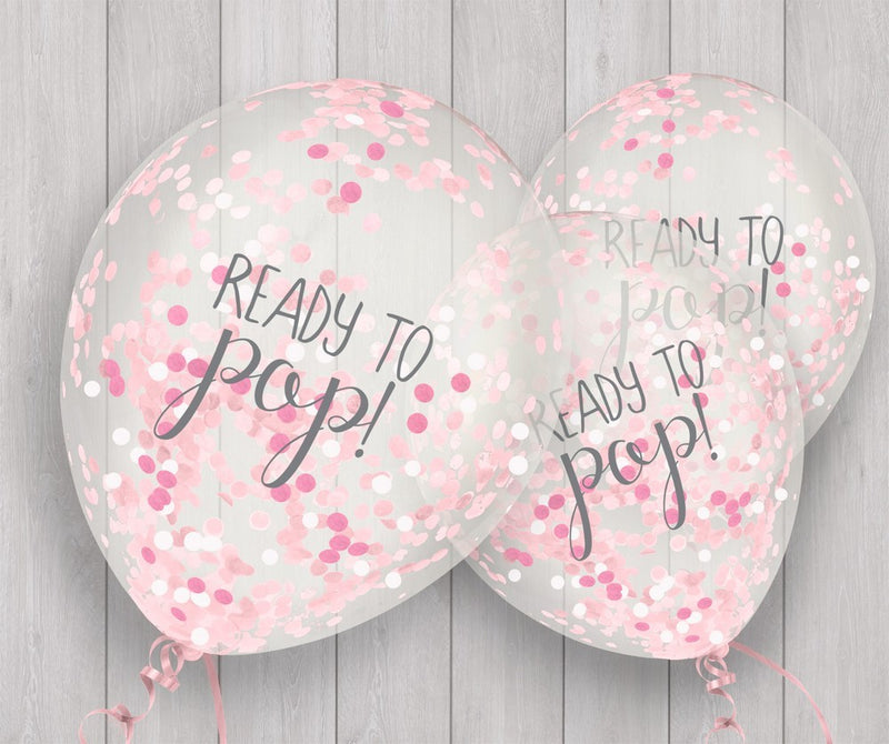 Oh Baby Confetti Balloons - Pink