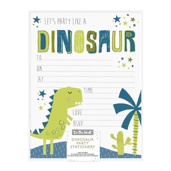 Dinosaur Party Invites & Thank You Pack